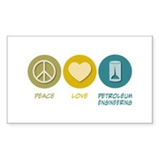 Peace Love Petroleum Engineering Decal