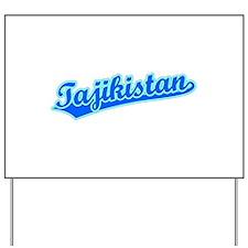 Retro Tajikistan (Blue) Yard Sign