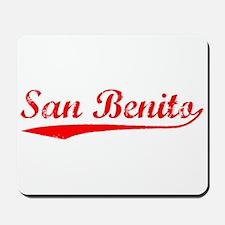 Vintage San Benito (Red) Mousepad