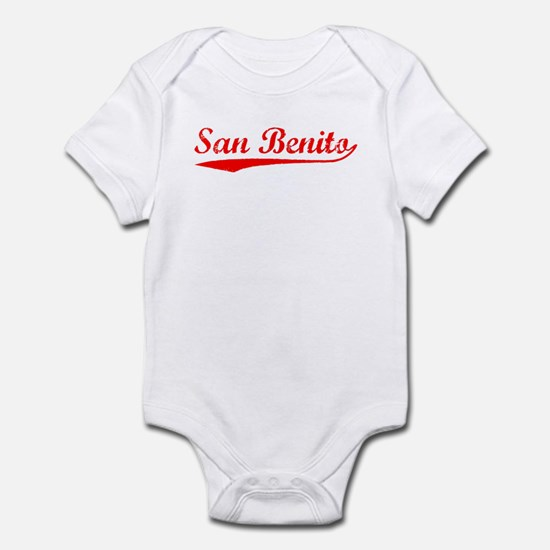 Vintage San Benito (Red) Infant Bodysuit