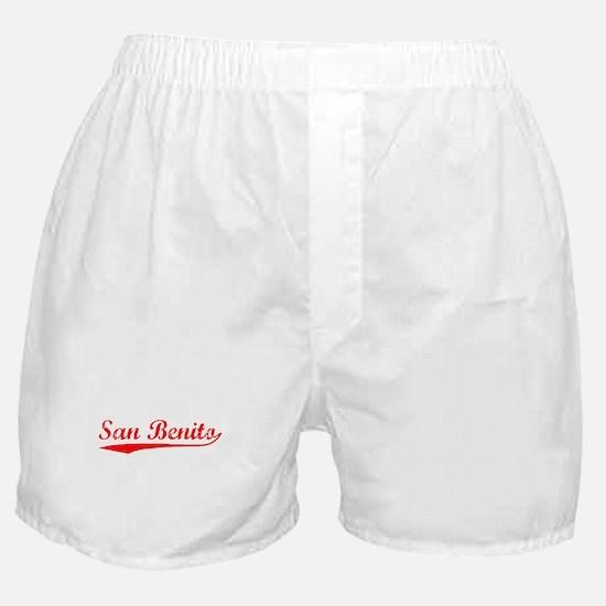 Vintage San Benito (Red) Boxer Shorts