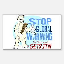 Global Warning! Rectangle Decal