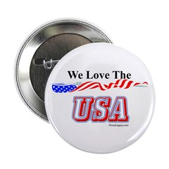 """""""We Love the USA!"""" 2.25"""" Button"""