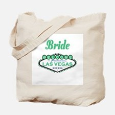 Spring Green Las Vegas Bride Tote Bag