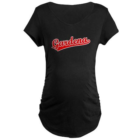 Retro Gardena (Red) Maternity Dark T-Shirt