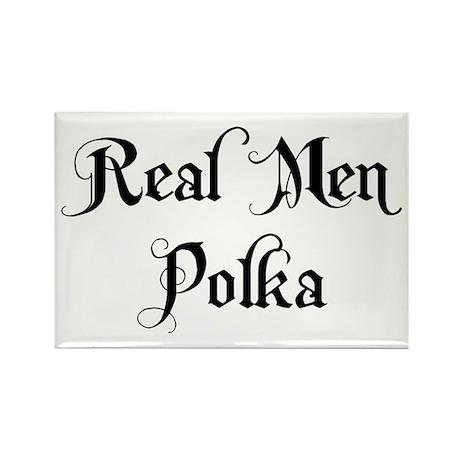 Real Men Polka Rectangle Magnet