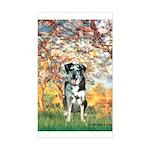 Spring / Catahoula Leopard Dog Sticker (Rectangle)