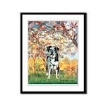 Spring / Catahoula Leopard Dog Framed Panel Print