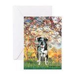 Spring / Catahoula Leopard Dog Greeting Card