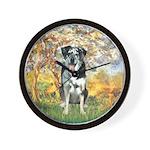 Spring / Catahoula Leopard Dog Wall Clock
