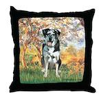 Spring / Catahoula Leopard Dog Throw Pillow