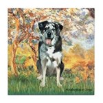 Spring / Catahoula Leopard Dog Tile Coaster