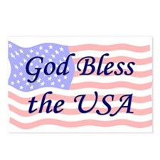 God Bless the USA Postcards (Package of 8)