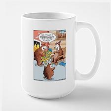 3 Bears Golden Locket Large Mug