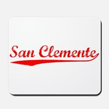 Vintage San Clemente (Red) Mousepad