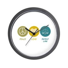Peace Love Patent Law Wall Clock