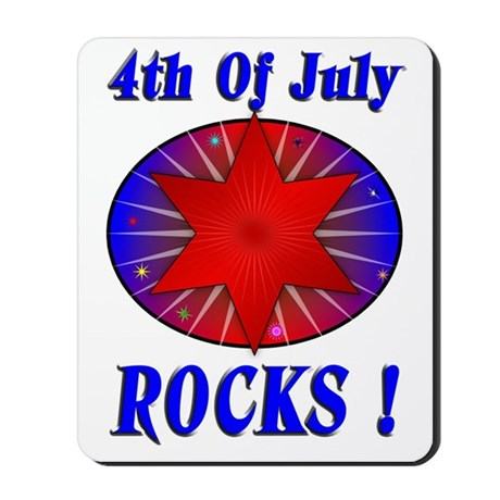 4th of July Rocks (blue) Mousepad