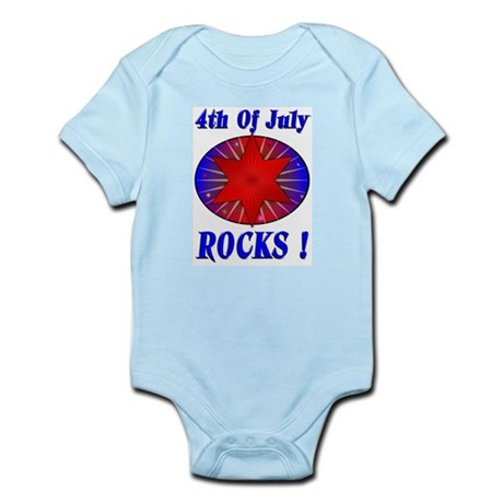 4th of July Rocks (blue) Infant Creeper