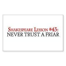 Never Trust A Friar Rectangle Sticker 10 pk)