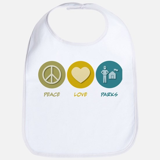 Peace Love Parks Bib