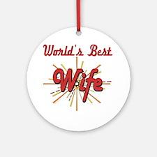 Starburst Wife Ornament (Round)