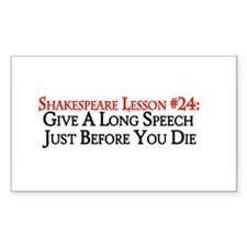Give A Long Speech Rectangle Decal