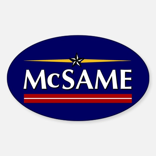 McSame Oval Decal