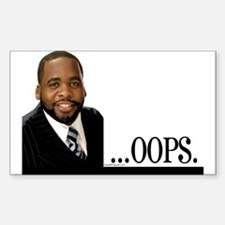 OOPS Kwame Kilpatrick Rectangle Decal
