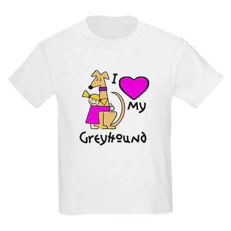 Blonde Girl, Fawn Hound Kids Light T-Shirt