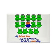 Different FROGS 1 (Niece) Rectangle Magnet