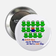 """Different FROGS 1 (Niece) 2.25"""" Button (10 pack)"""