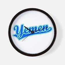 Retro Yemen (Blue) Wall Clock