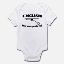 Speak English Infant Bodysuit
