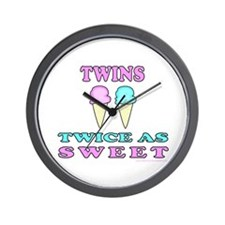 TWINS TWICE AS SWEET Wall Clock