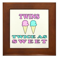 TWINS TWICE AS SWEET Framed Tile
