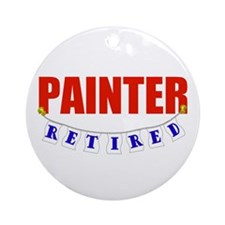 Retired Painter Ornament (Round)