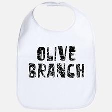 Olive Branch Faded (Black) Bib