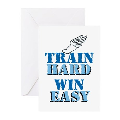 Train Hard - Track Greeting Cards (Pk of 10)