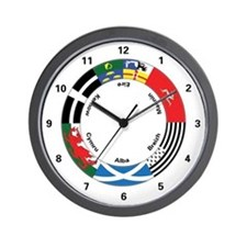 Celtic Nations Wall Clock