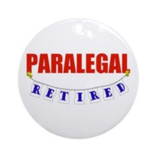 Retired Paralegal Ornament (Round)