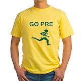 Running Mens Yellow T-shirts