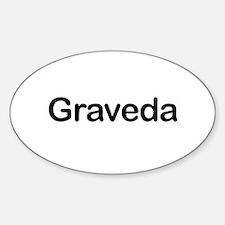 Pregnant in Esperanto Graveda Oval Decal