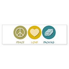 Peace Love Packing Bumper Bumper Sticker