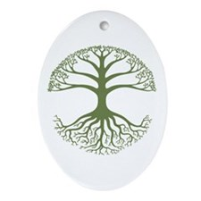 Deeply Rooted Oval Ornament