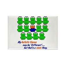 Different FROGS 1 (Nieces) Rectangle Magnet