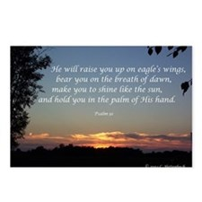 On Eagle's Wings...Psalm 91 Postcards (Package of