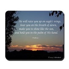 On Eagle's Wings...Psalm 91 Mousepad