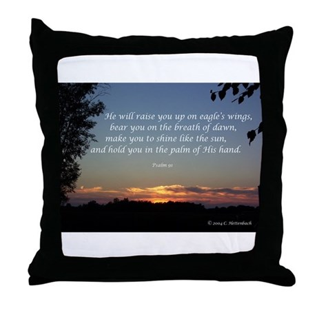 On Eagle's Wings...Psalm 91 Throw Pillow