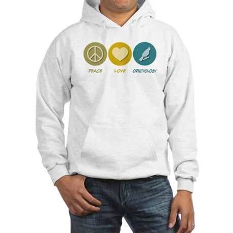 Peace Love Ornithology Hooded Sweatshirt