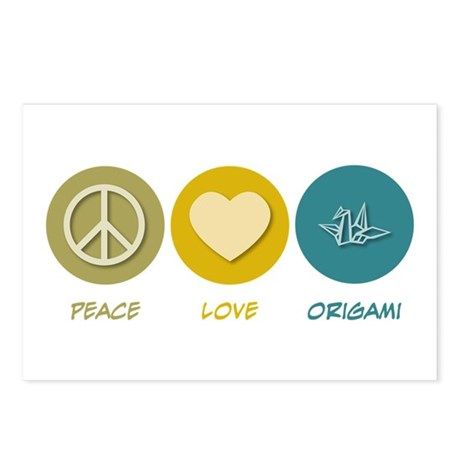 Peace Love Origami Postcards (Package of 8)